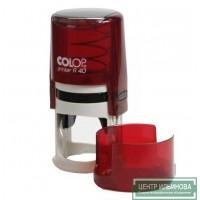 Colop Printer R40 cover Оснастка для печати диам. 40мм с крышкой рубин (ruby)