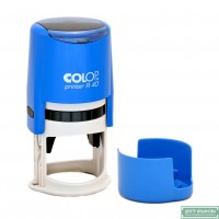 Colop Printer R40 cover Оснастка для печати диам. 40мм с крышкой синяя (blue)