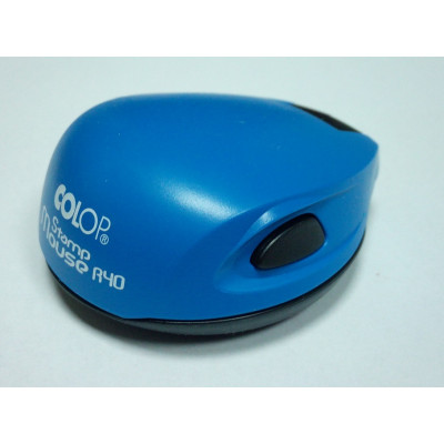Colop Stamp Mouse R40 Оснастка мышка для печати диам. 40мм синяя (blue)